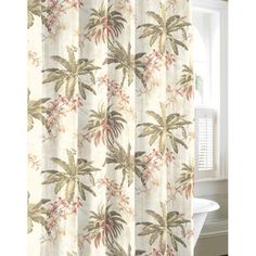 @Overstock - Tommy Bahama Bonny Cove Cotton Shower Curtain - This Tommy Bahama printed cotton shower curtain features a gorgeous print of beautiful foliage. The curtain is a great way to update the bathroom with a touch of color and bring the tropics indoors.  http://www.overstock.com/Bedding-Bath/Tommy-Bahama-Bonny-Cove-Cotton-Shower-Curtain/8372776/product.html?CID=214117 $32.99