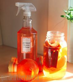 Don't toss your orange peels. Pop them into some white vinegar and add cinnamon sticks for a fresh-smelling citrus cleaner. Stephanie Rose, who blogs at Garden Therapy, tells you how. || @Stephanie Close @ Garden Therapy