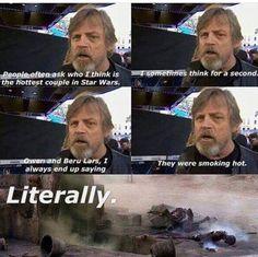 El Descanso del Escriba: La pareja mas caliente de Star Wars, según Luke......