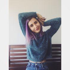Zen life☯️ #purple #purplehair #hairstyle #purpleness #inlove #furyblouse #style #smile