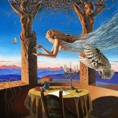 Kai Fine Art is an art website, shows painting and illustration works all over the world. Surrealism Painting, Pop Surrealism, Illustrator, Surreal Artwork, Magic Realism, Mystique, Beautiful Fairies, Salvador Dali, Visionary Art