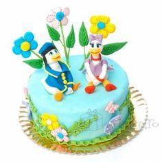 Un tort vesel pentru fanii Disney Daisy, Birthday Cake, Desserts, Food, Tailgate Desserts, Deserts, Margarita Flower, Birthday Cakes, Essen