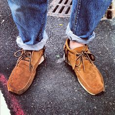 Visvim x rolled up jeans + no socks  = yes
