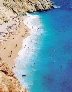 Kaputaş Beach, Kas, Antalya, Turkey. South Cyprus, Turkey Places, Turkey Holidays, Visit Turkey, Beautiful Places In The World, Wonderful Places, Alanya, Holiday Places, Turkey Travel