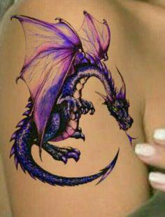 Dragon Tattoo Purple