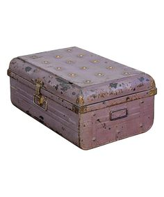 Take a look at this Pink Vintage 1950s Iron Traveler's Storage Trunk on zulily today!