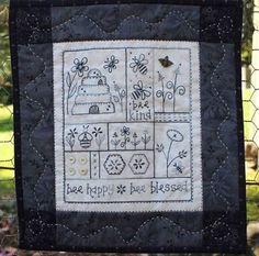 Bee Happy - by Gail Pan Designs - Stitchery Pattern