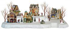 Styrofoam+Village+Display / Idea for under my Christmas tree