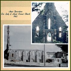 Our Lady of Mt. Carmel as it was being remodeled. Morris County, Family Search, Our Lady, Memories, Usa, Memoirs, Souvenirs, Remember This, U.s. States