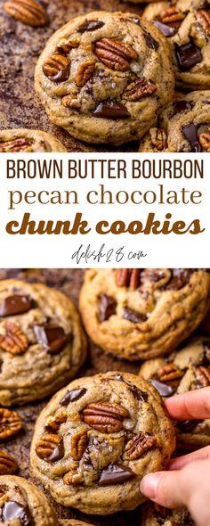Pancake Recipe Ingredients, Best Pancake Recipe, Pecan Cookies, Chocolate Chunk Cookies, Holiday Cookie Recipes, Holiday Cookies, Whiskey Chocolate, Yule Log Cake, Sprinkle Cookies