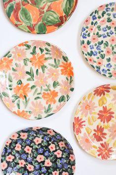 Ceramic Clay, Ceramic Painting, Ceramic Plates, Ceramic Pottery, Pottery Art, Diy Clay, Clay Crafts, Keramik Design, Pottery Painting Designs