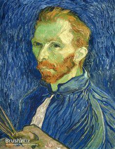 Self Portrait With Pallette by Vincent Van Gogh - Oil Painting Reproduction - BrushWiz.com