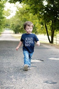 Jesus Saves Bro - Kid's Tee by Ruby's Rubbish $18.50