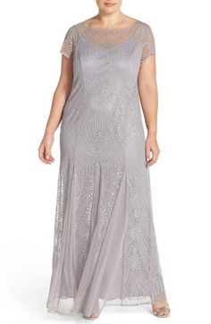 cd8c0d8a9e7c Brianna Embellished Illusion Gown (Plus Size) available at  Nordstrom Shiny  Fabric