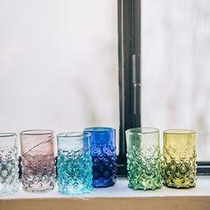 Delicate glassware blown in the Middle East ( available in-store & on merci-merci.com ) #glassware #glass #craftmanship #colorama