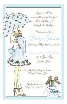 Sassy Momma Blue Invitation