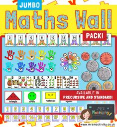 Use this Maths Wall Display Pack in Pre-cursive font to bring your maths wall to life! Contains maths lettering and maths display resources for everyone! Classroom Displays Primary Working Wall, Working Wall Display, Literacy Working Wall, Primary Classroom Displays, Ks1 Classroom, Year 1 Classroom, Numeracy Display, Phonics Display Ks1, Year 2 Maths