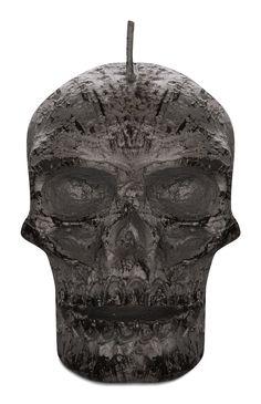 Schwarze Totenkopfkerze