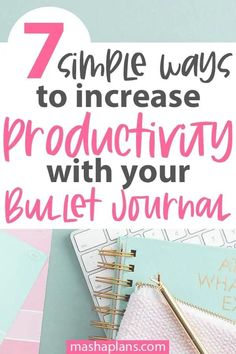 Learn 7 simple tricks to be more productive and efficient. Learn time management techniques to put in your Bullet Journal to help you achieve more and use your journal at it's full potential. Bullet Journal Hacks, Bullet Journal Printables, Bullet Journal How To Start A, Bullet Journal Layout, Bullet Journal Inspiration, Bullet Journals, Journal Ideas, Goal Planning, Day Planners