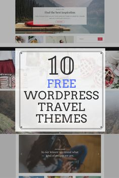 """Free Wordpress Travel Themes! I know, it sounds too good to be true. But it's not! These travel templates are made for your words and beautiful photography. If you want to start your travel blog or you need a refresh, check out these freebie themes to help get you started on the cheap. Since some of them are """"lite"""" versions, you can see how you like the feel of the theme before you commit to a purchase. Kinds Of People, We The People, Travel Themes, Your Word, Wordpress Theme, Traveling By Yourself, Good Things, Templates, Feelings"""