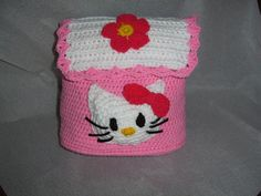 Hello Kitty Child's Backpack ~ Free Crochet Pattern | Published in Hooking It (archived) | Ravelry