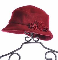 Kate Mack Couture Red Fleece Hat  $29
