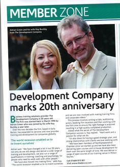 A write up from #NorthamptonshireChamber marking our 20th Anniversary. #thedevco #20years