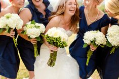 Hydrangea bouquets are a beautiful and budget-friendly option for bridesmaids!