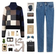 """""""And February"""" by misssimplicity ❤ liked on Polyvore featuring Current/Elliott, Boohoo, A.P.C., Givenchy, NARS Cosmetics, Fresh, Chico's, Nine Space, M2Malletier and NYX"""