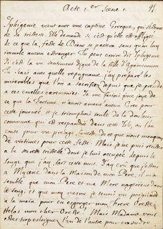 Manuscrit de Jean Racine (1639 - 1699) Men Of Letters, Love Letters, Journal Pages, Junk Journal, Journals, Notebooks, Jean Racine, Info People, August Strindberg