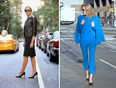 blue on blue, black on black // office appropriate fashion, The Classy Cubicle