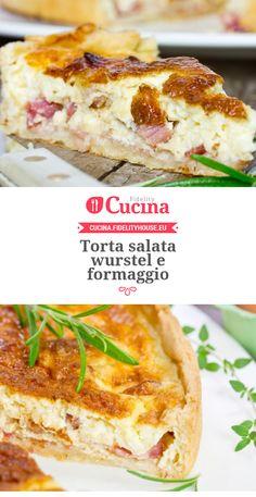 Torta salata #wurstel e #formaggio