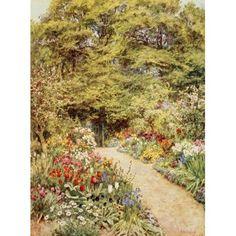 Homes of Tennyson 1905 Farringford Kitchen garden Canvas Art - Helen Allingham (18 x 24)