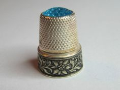 German Floral Sterling Silver Thimble