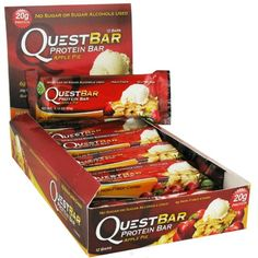 Quest Nutrition QuestBar Protein Bar Apple Pie  12 Bars *** See this great product.