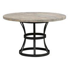Tribeca Dining Table in Light Gray and Black | Nebraska Furniture Mart