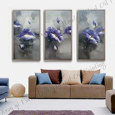 Hand-painted Oil Wall Art Home Decoration Modern Abstract fish Oil Painting On canvas 3 Piece Wall Painting $65