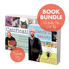 Catification Book Bundle - Catification & Catify to Satisfy Plus Free Cat Toy!