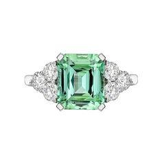 Raymond C. Yard Mint Tourmaline & Diamond Ring