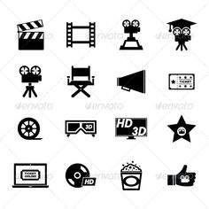 Movie Icon — JPG Image #director #star • Available here → https://graphicriver.net/item/movie-icon/5304782?ref=pxcr
