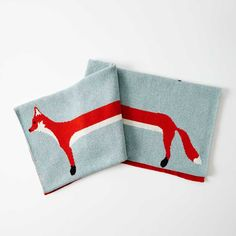 Striped Fox Blanket by Katy Skelton