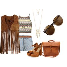 country by beatriz-justo on Polyvore featuring Topshop, VILA, Aéropostale, M&Co and country