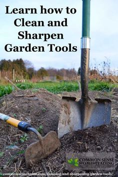 Cleaning and Sharpening Garden Tools. Tools last longer when cleaned and sharpened, plus a well sharpened edge makes gardening easier.
