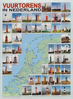 vuurtorens in Nederland Light houses in the Netherlands Kingdom Of The Netherlands, Holland Netherlands, All Over The World, Around The Worlds, Leiden, Rotterdam, Windmill, Lighthouse, Seaside