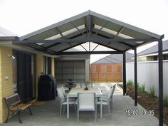 swoopy patio roof big 16x18 foot roof covers back patio