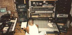 Larry Heard in the studio