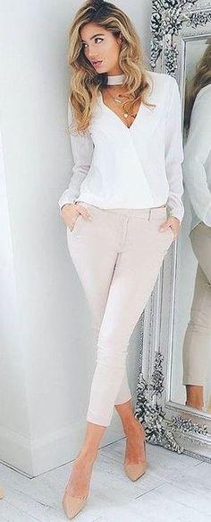 Khaki +white+ nude shoe+ choker!~