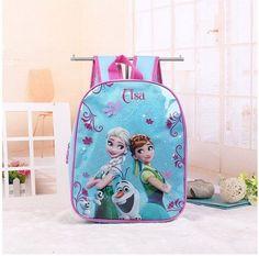 75a9e42d68 2017 New kids cartoon Elsa Anna schoolbag girls princess cute school bag  sofia Kindergarten backpacks in