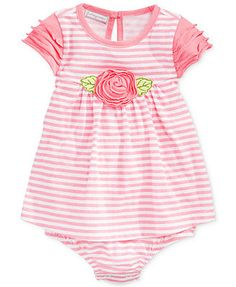 First Impressions Baby Girls' Striped Sunsuit