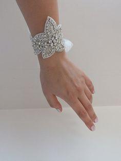 Crystal bracelet wedding bracelet bridal jewelry by WEDDINGHome, $35.00